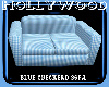 blue checkerd couch