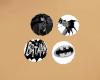 BatMan Badge BlacknWhite