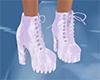purple n white boots