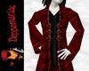 Retro Goth Coat RED