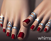 Red Pedicure Rings