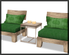 2 Chairs Country Green