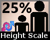 Height Scale 25% F A