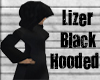 lizer black hooded robe