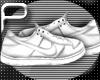 [P] White Nikes-LowTop