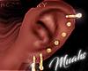 $ Ear Piercin Set Gold R