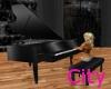 (C75)Black Grand Piano