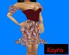 Burgandy Swirl Dress