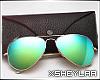 $ Aviator Glasses green