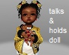 kids talk & hold doll
