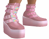 Pink Goth Boots