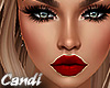 Busty Red lip Tan skin
