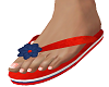 Red White N Blue Sandals