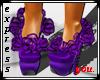 Purple Flower Heels