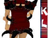 red/ ivoryspiked dress