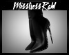 Leather set heels