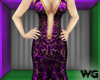 Gold Foil Gown Purple