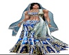 blue lehenga saree