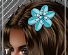 Teal Splash Hair Flower