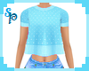 [S] Frilly Blue Top