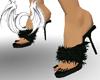 [X] Black Fuzzy Heels
