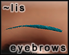 Eyebrows: teal