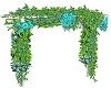 Teal Greenery Arch