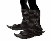 Leather Horned Boots