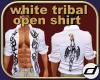 white Tribal open shirt