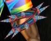 Rainbow Spike Band [L]