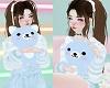 Blue Kawaii Teddy Bear