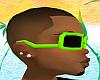 *CA* Green/Black Glasses