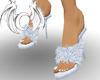 [X] White Fuzzy Heels