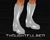 !TB! PVC White Boots