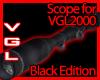 VGL2000 Scope black