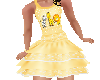 Flat Yellow Ruffle dress