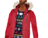TOMMY HOLIDAY RED JACKET