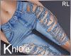 K ripped jeans blue RL