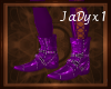 PVC Boots - Purple