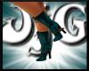 JjG Fantasy Teal Boots