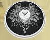 White heart rug