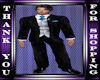 wedding suit  blue tie