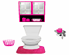 Pink & White Toilet and