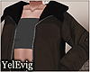 [Y] Layerable brown coat
