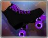 Roller Skates Blk Purple