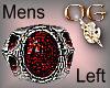 OG/Silver&GarnetMensRing