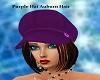 purple hat auburn hair
