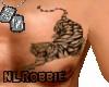 White tiger Chest tattoo
