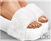 Fur High Slides WHITE
