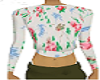 Long Sleeve Crop Floral